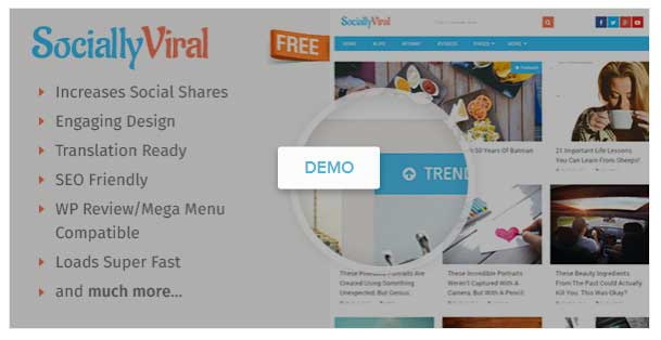socially viral free wordpress theme