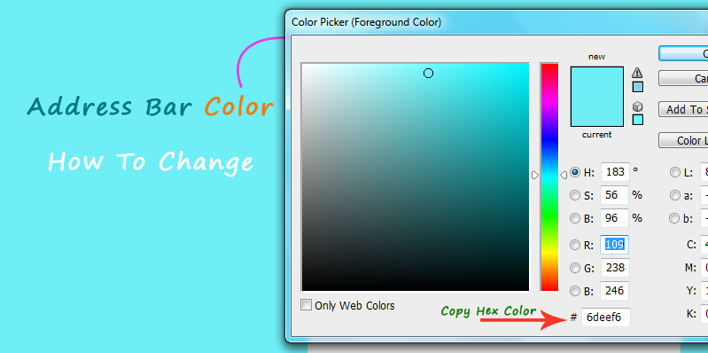 address bar color picker hex code